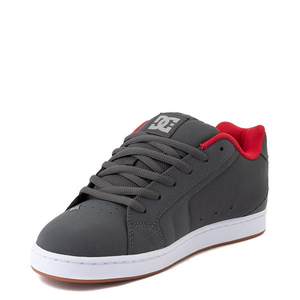 alternate view Mens DC Net Skate Shoe - Gray / Gray / RedALT3