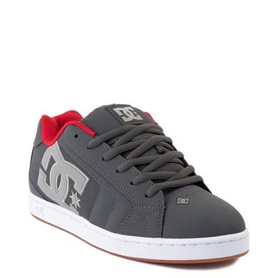 Alternate view of Mens DC Net Skate Shoe - Gray / Gray / Red