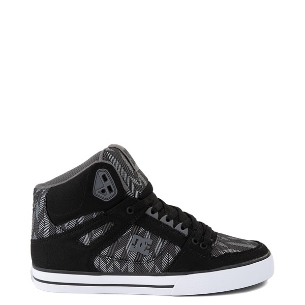 Mens DC Pure Hi WC TX SE Skate Shoe - Gray