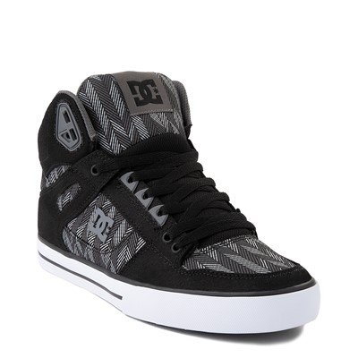 Alternate view of Mens DC Pure Hi WC TX SE Skate Shoe - Gray