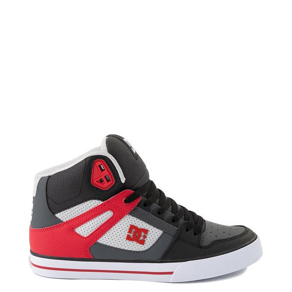 Mens DC Pure Hi WC Skate Shoe - Gray / Red