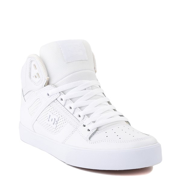 alternate view Mens DC Pure Hi WC Skate Shoe - White / GumALT1