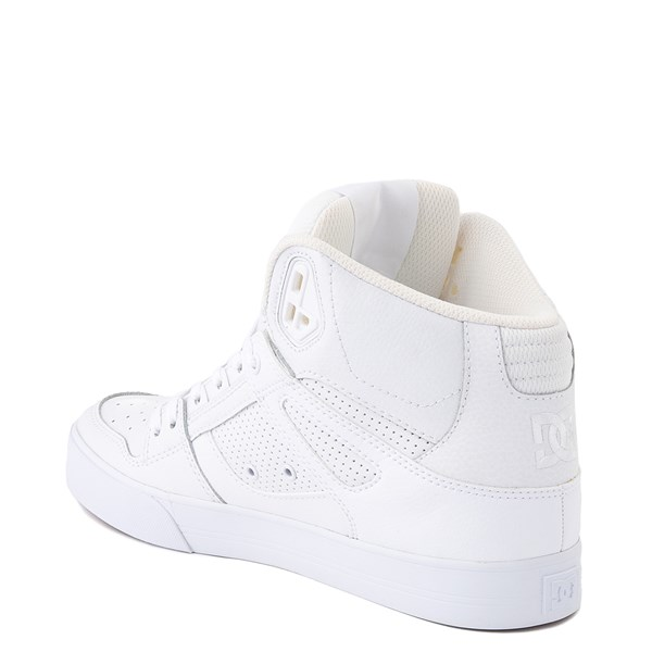 alternate view Mens DC Pure Hi WC Skate Shoe - White / GumALT2