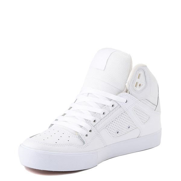 alternate view Mens DC Pure Hi WC Skate Shoe - White / GumALT3
