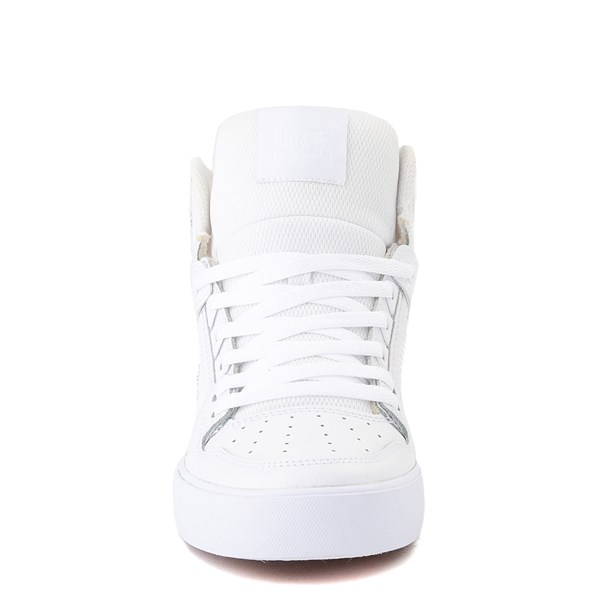 alternate view Mens DC Pure Hi WC Skate Shoe - White / GumALT4
