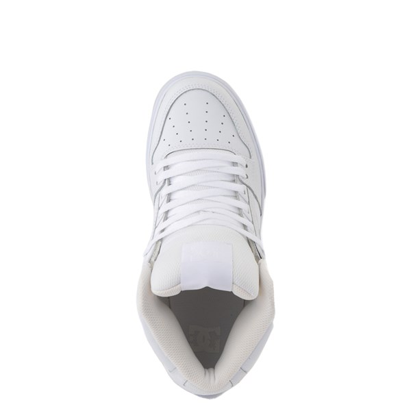 alternate view Mens DC Pure Hi WC Skate Shoe - White / GumALT4B