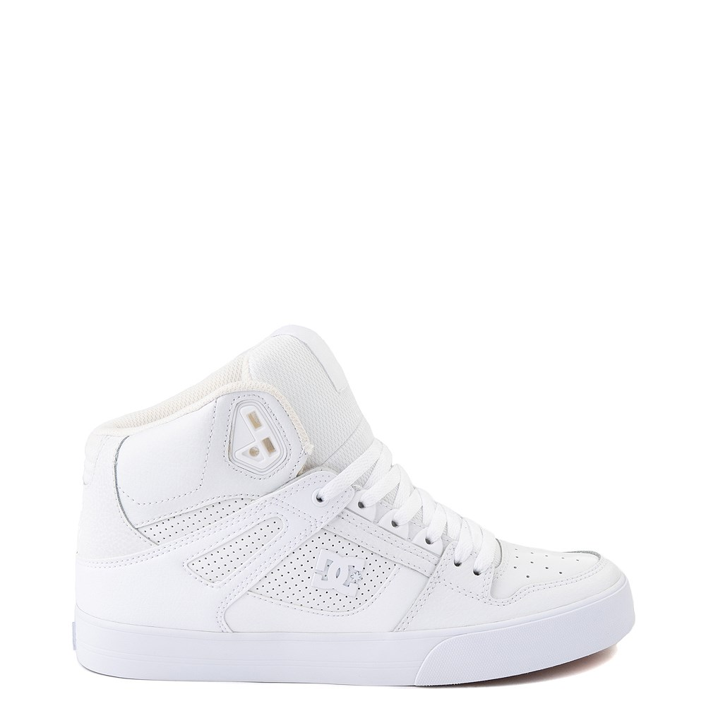 Mens DC Pure Hi WC Skate Shoe - White / Gum