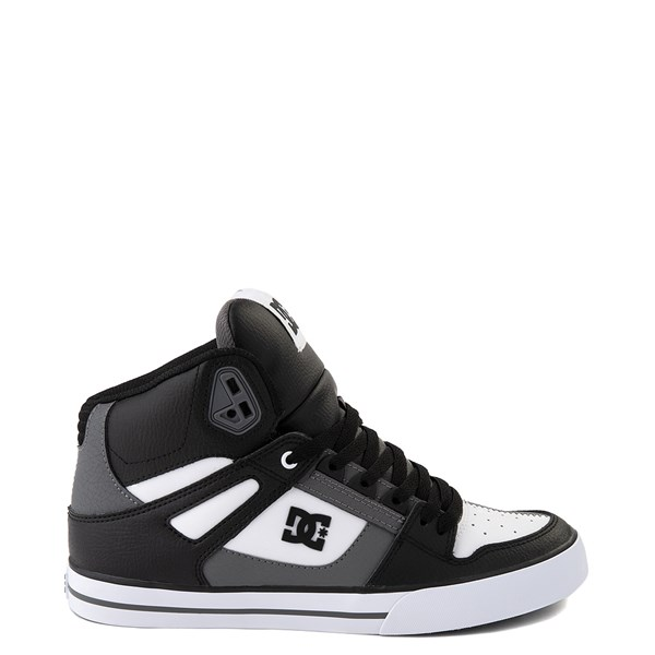 Mens DC Pure Hi WC Skate Shoe - White / Gray / Black
