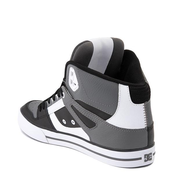 alternate view Mens DC Pure Hi WC Skate Shoe - White / Gray / BlackALT2