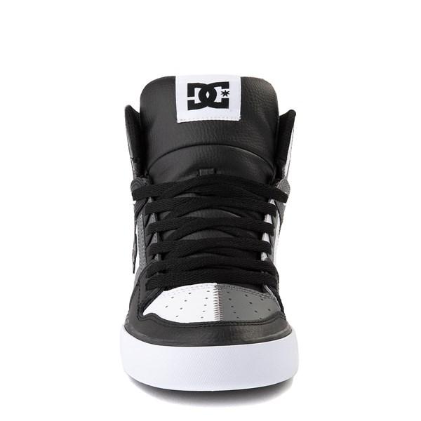 alternate view Mens DC Pure Hi WC Skate Shoe - White / Gray / BlackALT4