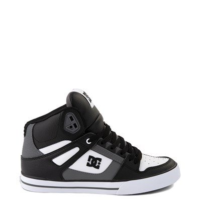 Main view of Mens DC Pure Hi WC Skate Shoe - White / Gray / Black