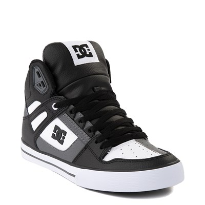 Alternate view of Mens DC Pure Hi WC Skate Shoe - White / Gray / Black