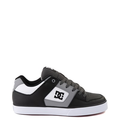 Main view of Mens DC Pure SE Skate Shoe - Black / White / Gray