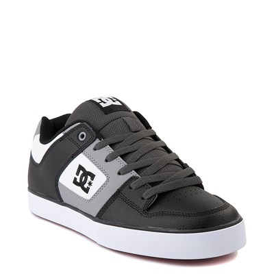 Alternate view of Mens DC Pure SE Skate Shoe - Black / White / Gray