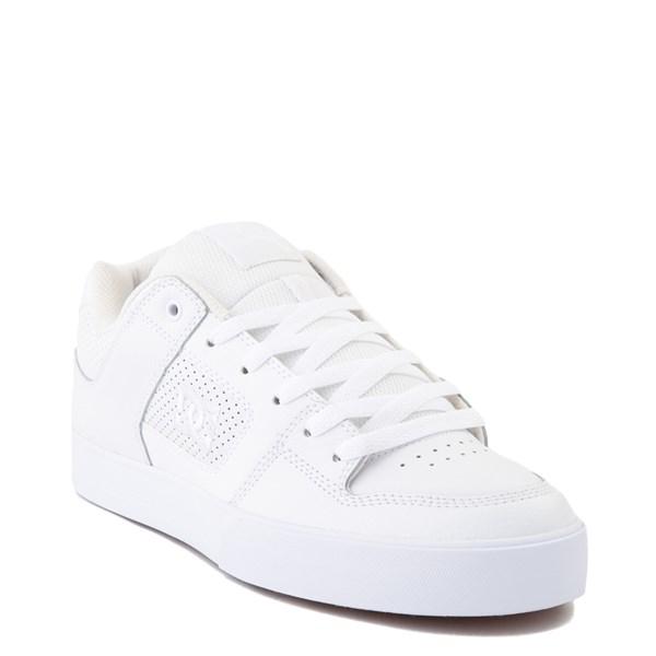 alternate view Mens DC Pure Skate Shoe - White / GumALT1