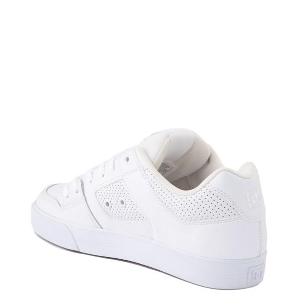 alternate view Mens DC Pure Skate Shoe - White / GumALT2