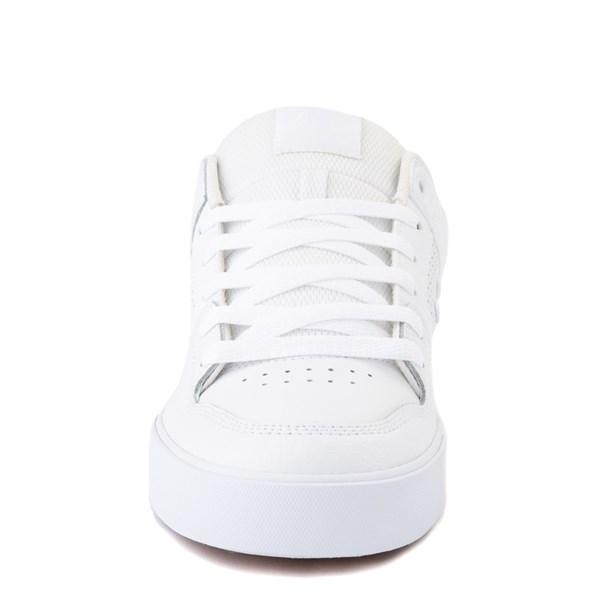 alternate view Mens DC Pure Skate Shoe - White / GumALT4