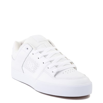 Alternate view of Mens DC Pure Skate Shoe - White / Gum