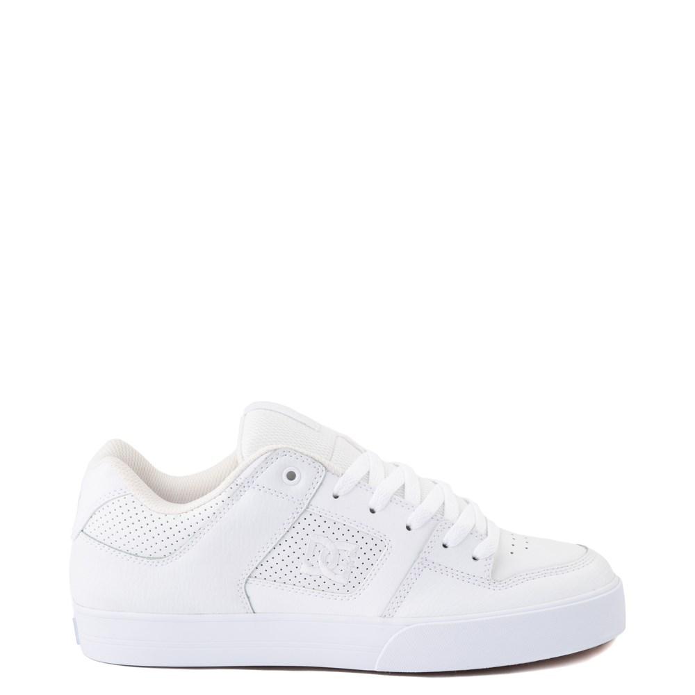 Mens DC Pure Skate Shoe - White / Gum