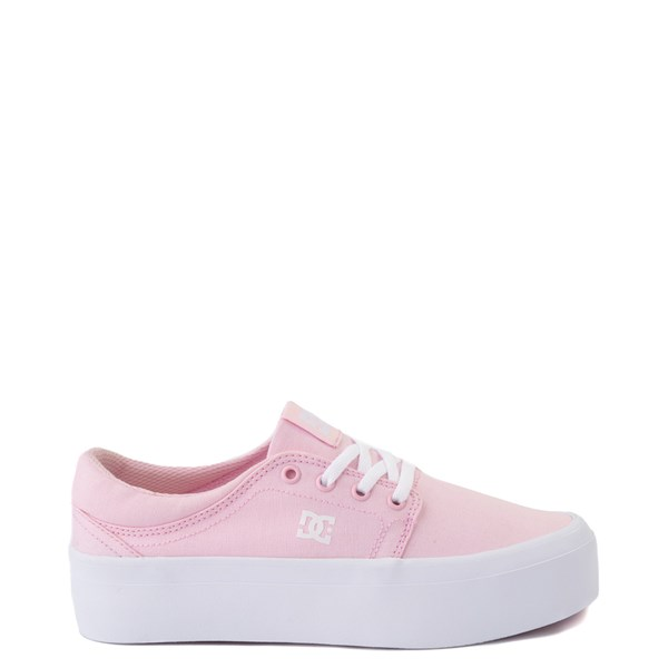 Womens DC Trase TX Platform Skate Shoe - Light Pink