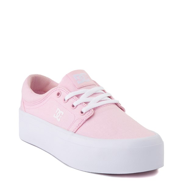 alternate view Womens DC Trase TX Platform Skate Shoe - Light PinkALT1