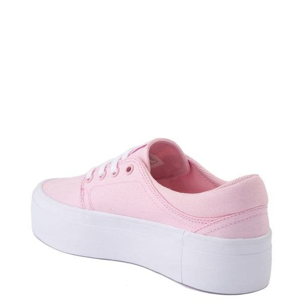 alternate view Womens DC Trase TX Platform Skate Shoe - Light PinkALT2