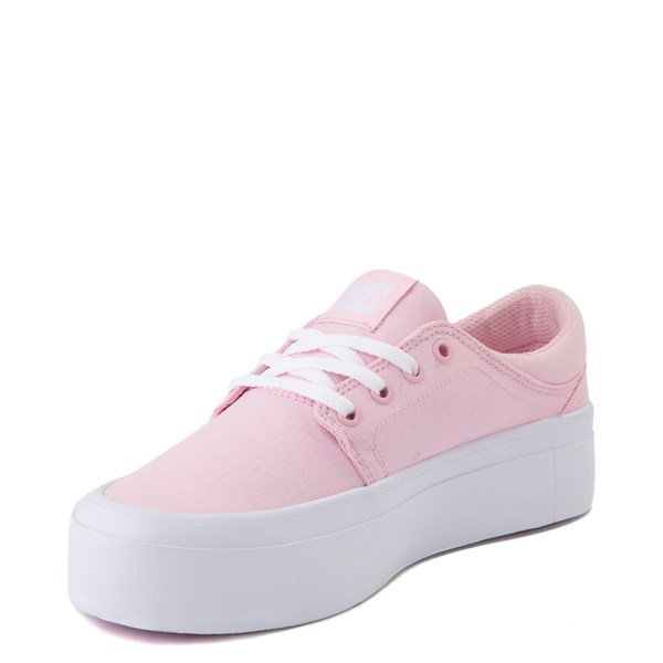 alternate view Womens DC Trase TX Platform Skate Shoe - Light PinkALT3