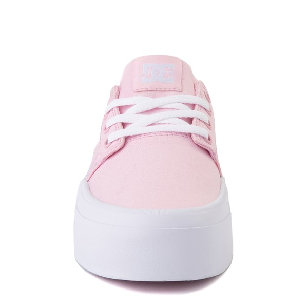 alternate view Womens DC Trase TX Platform Skate Shoe - Light PinkALT4