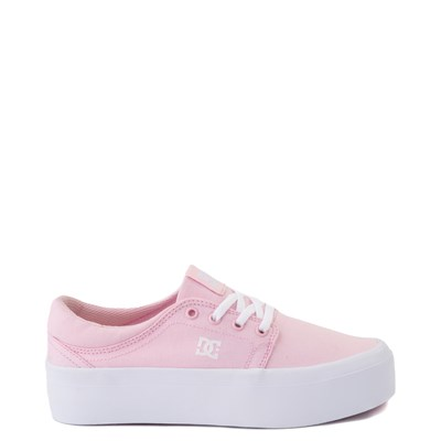 Main view of Womens DC Trase TX Platform Skate Shoe - Light Pink