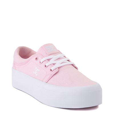 Alternate view of Womens DC Trase TX Platform Skate Shoe - Light Pink