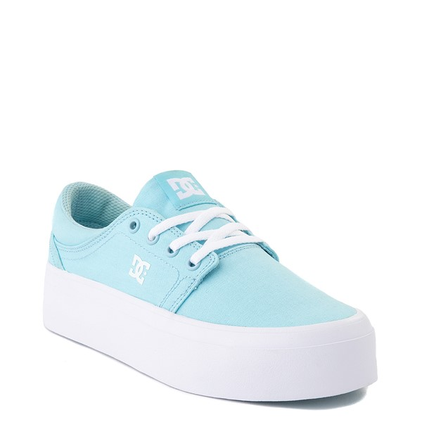alternate view Womens DC Trase TX Platform Skate Shoe - Light BlueALT1