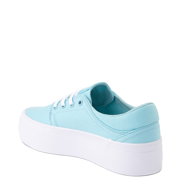 alternate view Womens DC Trase TX Platform Skate Shoe - Light BlueALT2
