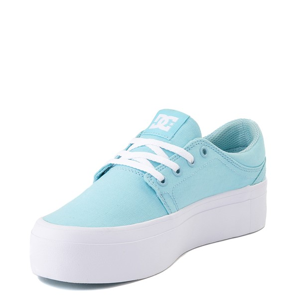 alternate view Womens DC Trase TX Platform Skate Shoe - Light BlueALT3