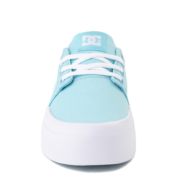 alternate view Womens DC Trase TX Platform Skate Shoe - Light BlueALT4