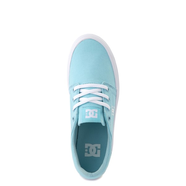 alternate view Womens DC Trase TX Platform Skate Shoe - Light BlueALT4B