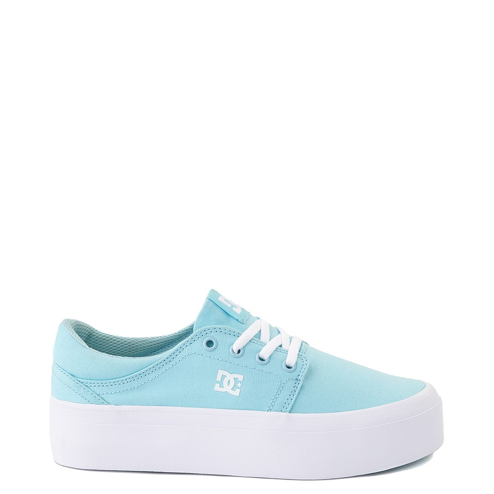 Womens DC Trase TX Platform Skate Shoe - Light Blue