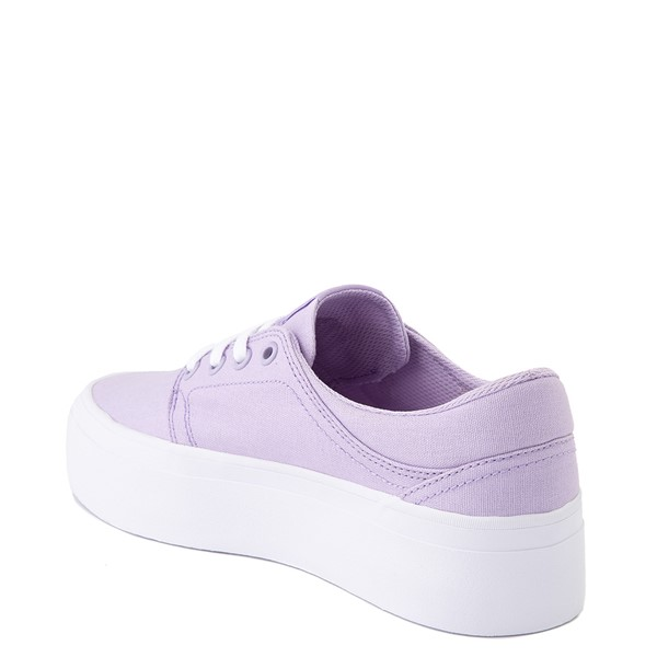 alternate view Womens DC Trase TX Platform Skate Shoe - LilacALT2