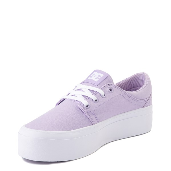 alternate view Womens DC Trase TX Platform Skate Shoe - LilacALT3