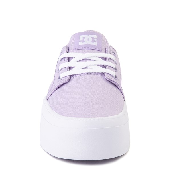 alternate view Womens DC Trase TX Platform Skate Shoe - LilacALT4
