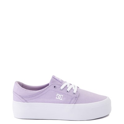 Main view of Womens DC Trase TX Platform Skate Shoe - Lilac