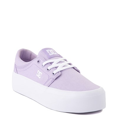 Alternate view of Womens DC Trase TX Platform Skate Shoe - Lilac