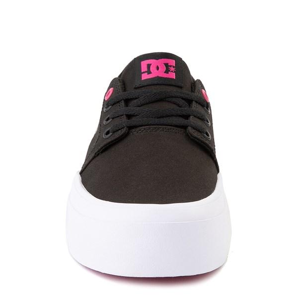 alternate view Womens DC Trase TX Platform Skate Shoe - Black / FuchsiaALT4