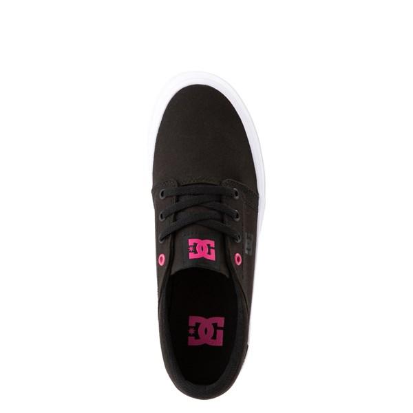 alternate view Womens DC Trase TX Platform Skate Shoe - Black / FuchsiaALT4B