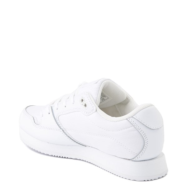 alternate view Womens DC Alias Skate Shoe - White MonochromeALT2