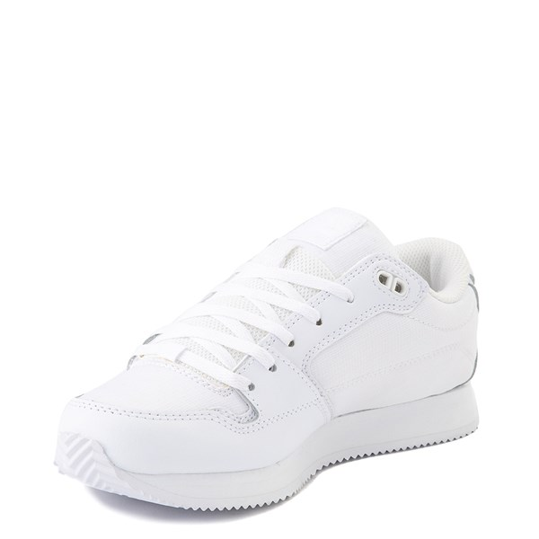 alternate view Womens DC Alias Skate Shoe - White MonochromeALT3