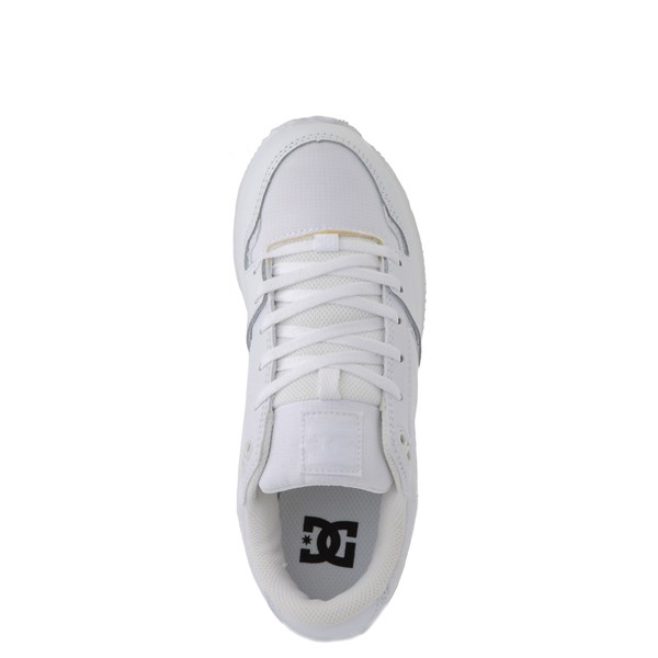 alternate view Womens DC Alias Skate Shoe - White MonochromeALT4B