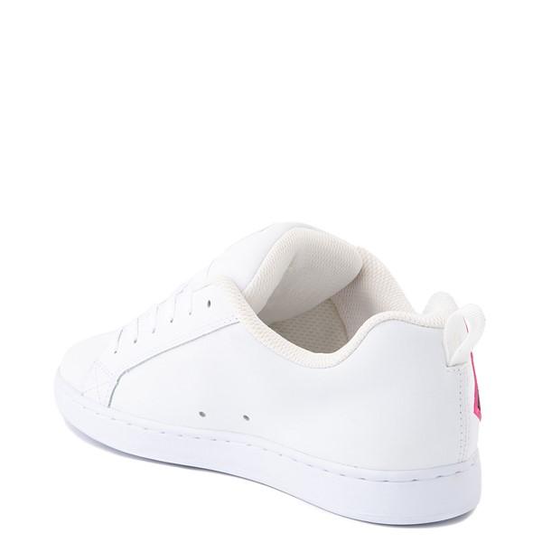 alternate view Womens DC Court Graffik SE Skate Shoe - White / Red / PlaidALT1