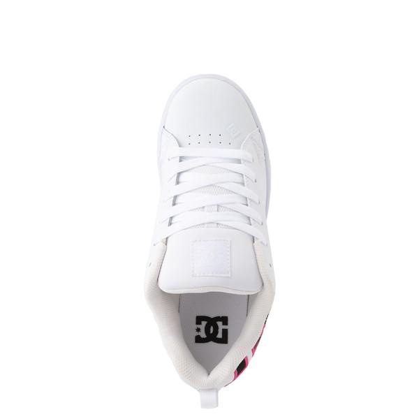 alternate view Womens DC Court Graffik SE Skate Shoe - White / Red / PlaidALT2