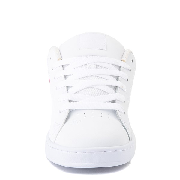 alternate view Womens DC Court Graffik SE Skate Shoe - White / Red / PlaidALT4