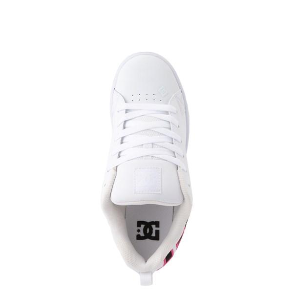 alternate view Womens DC Court Graffik SE Skate Shoe - White / Red / PlaidALT4B